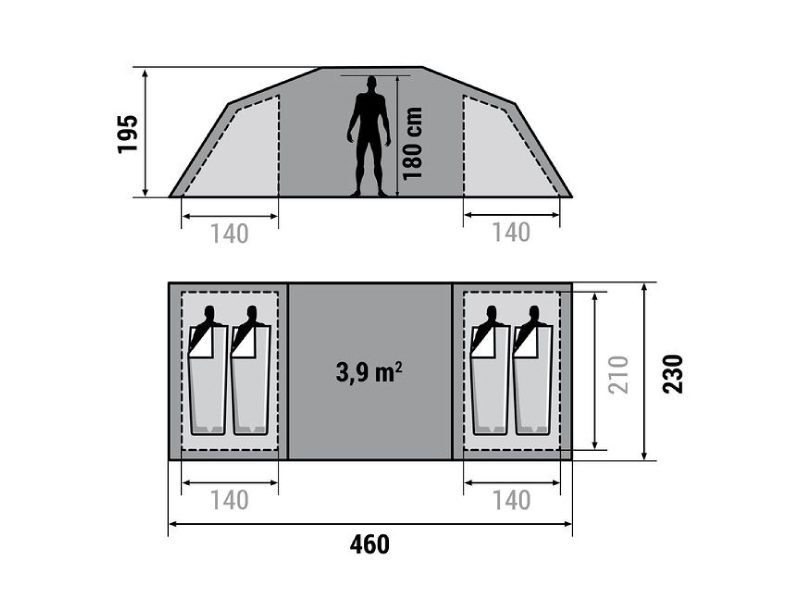 4 Person Dome Tent Sizes