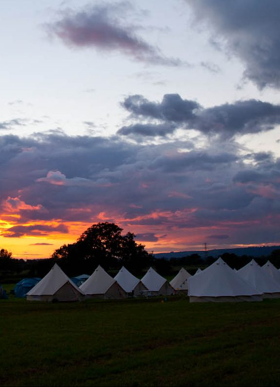 Sunset Glastonbury Festival